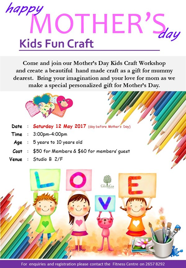 The Country Club At Hong Lok Yuen Mother S Day Craft Workshop Sat
